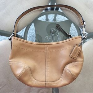 Coach Camel Small Shoulder Hobo Purse